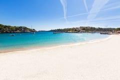 Majorca Porto Cristo plaża w Manacor przy Mallorca zdjęcia stock