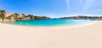 Majorca Porto Cristo strand i Manacor på Mallorca Arkivbilder