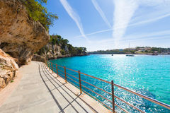 Majorca Porto Cristo strand i Manacor på Mallorca Royaltyfri Fotografi