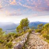 Majorca Puig de Maria Pollenca Pollensa in Mallorca Stock Images
