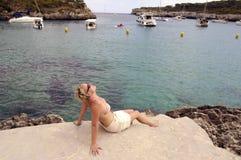 Majorca Śródziemnomorska Zatoka/ Zdjęcia Royalty Free