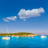 Majorca sAmarador beach Amarador in Mondrago. Mondragon Natural Park of Mallorca Balearic Island Stock Images
