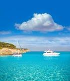 Majorca sAmarador beach Amarador in Mondrago. Mondragon Natural Park of Mallorca Balearic Island Stock Photography