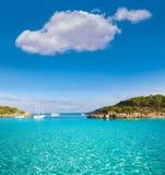 Majorca sAmarador beach Amarador in Mondrago. Mondragon Natural Park of Mallorca Balearic Island Royalty Free Stock Photography