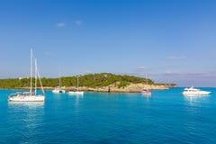 Majorca sAmarador beach Amarador in Mondrago. Mondragon Natural Park of Mallorca Balearic Island Royalty Free Stock Image