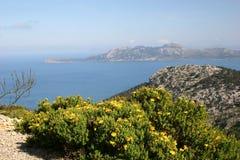 Majorca, Schacht von Pollenca Stockbild