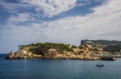Majorca seaside. Port de Soller at the seaside of Mallorca, Spain Royalty Free Stock Image