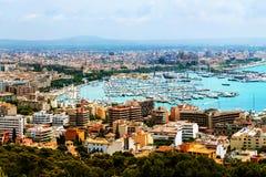 Majorca, Spain. Aerial view of Palma de Majorca Royalty Free Stock Photos