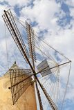 Majorca, Spain. 20 August 2016. A traditional windmill in Spain under a blue sky. Stock Photo
