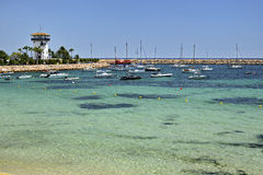 Majorca, Spain,  beach Platja de Palma Llucmajor in mallorca Balearic Islands Stock Photos