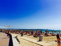 Majorca strand Royaltyfria Bilder