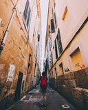 Majorca streets. Drowning in buildings stock photo