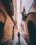 Majorca streets. Drowning in buildings Royalty Free Stock Image