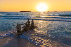 Majorca Sunset in Es Trenc beach in Campos Stock Photography