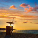 Majorca Sunset in Es Trenc beach in Campos Royalty Free Stock Image