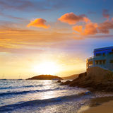 Majorca sunset in sant Elm near sa Dragonera Royalty Free Stock Images