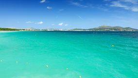 Majorca turquoise sea bay Royalty Free Stock Images