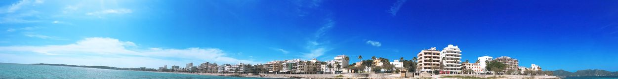Majorca view , Majorca panorama , Palma Majorca , Spain Stock Photo