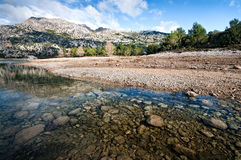 Majorca water reservoir area Royalty Free Stock Image