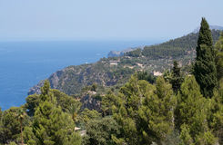 Majorca west coast scenery Royalty Free Stock Images