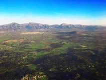 Majorca wyspa, Majorca nieba widok, majorca widok, Hiszpania, Europa Zdjęcia Stock