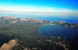 Majorca wyspa, Majorca nieba widok, majorca widok, Palma Majorca Hiszpania, Europa Zdjęcia Stock