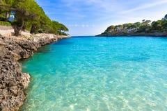 Majorcacala Gran Dor strand in Mallorca Santanyi stock foto