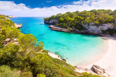 Majorcacala Llombards Santanyi strand Mallorca stock afbeeldingen
