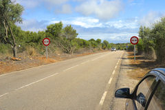 Majorcan Road Stock Photography