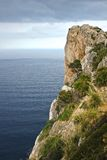 Majorcan Rock. Steep Rock at Cap de Capdepera on Majorca, Spain Stock Images