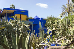 Majorelle garden detail (Home of Yves Saint-Laurent) Stock Photo