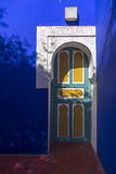 Majorelle garden detail (Home of Yves Saint-Laurent) Royalty Free Stock Photo