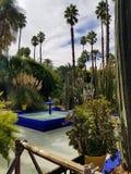 The Majorelle Garden in Marrakesh Morocco stock image