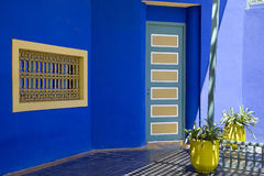 Majorelle gardens Marrakech in Marocco Royalty Free Stock Photos