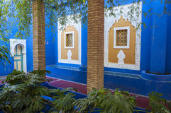 Majorelle Gardens in Marrakesh Stock Photos