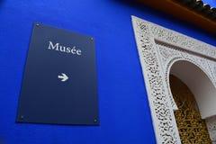 Majorelle Musee de Jardin in Marrakesch lizenzfreie stockfotos