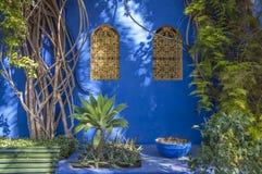 Majorelle trädgårdar i Marrakesh Royaltyfria Foton