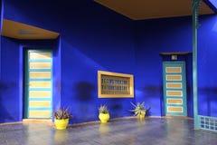 Majorelletuin in Marrakech stock afbeeldingen