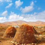 Majorero haystack or straw storage pajero Stock Image