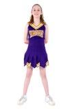 Majorette avec le nom officieux et les couleurs d'équipe uniformes Photographie stock