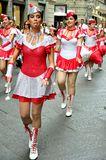 Majorette, cheerleader in Italy Stock Photos