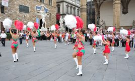 Majorette, cheerleaders in Italy Royalty Free Stock Images