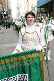 Majorette en desfile del día de Patricks del santo Imágenes de archivo libres de regalías