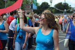 Majorette en un carnaval Foto de archivo libre de regalías