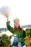 Majorette marching Royalty Free Stock Photography