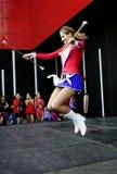 Majorette Marta Jabonska dance-2 Zdjęcia Royalty Free