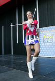 Majorette Marta Jabonska dance Royalty Free Stock Images