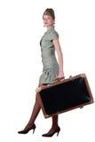 Majorette mit Koffer Stockbilder