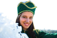Majorette smiling Royalty Free Stock Photo