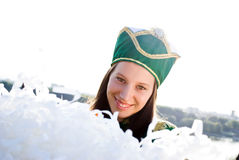 Majorette smiling and looking at camera Royalty Free Stock Photos